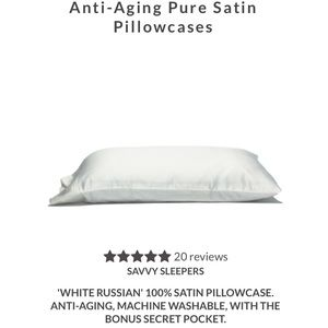 New Savvy Sleepers Anti-Aging Satin Pillowcase